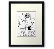 I Solemnly Swear... Framed Print