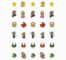 mario stickers by Kwok Kit Yuen