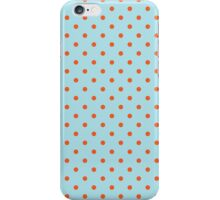 Polka Dots Background Blue Orange iPhone Case/Skin