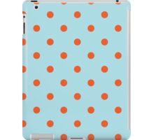 Polka Dots Background Blue Orange iPad Case/Skin
