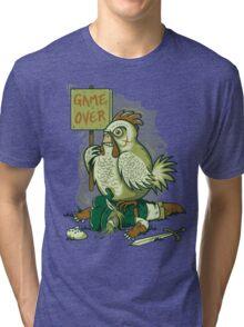 GAME OVER LINK Tri-blend T-Shirt