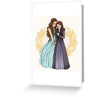 The Wolf and the Rose Greeting Card
