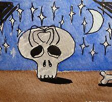 Spider & Skull by jadlart