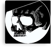 Graphic round black skull Canvas Print