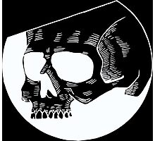 Graphic round black skull Photographic Print