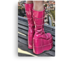 Pink Boots Canvas Print