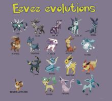 Eevee evolution chart by jonath1991