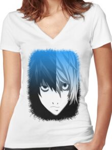 L/Near Women's Fitted V-Neck T-Shirt