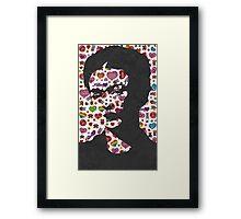 Frida Kahlo Stickers Prints  Framed Print