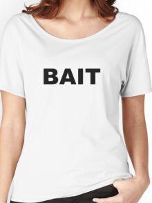 BAIT - black on white Women's Relaxed Fit T-Shirt