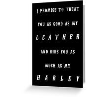 Harley Wedding Greeting Card