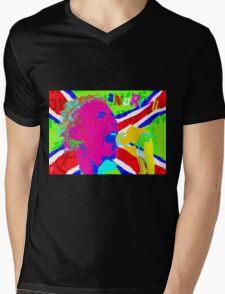 JOHNNY ROTTEN ANARCHY Mens V-Neck T-Shirt