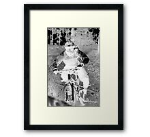 Downhill Mountain Riding Framed Print