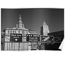 New York City with Traffic Signs Poster