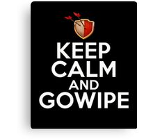 Keep Calm And GoWiPe Clash of Clans, Logo, Funny, Geek, Style Canvas Print