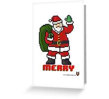 Merry Santa - V:IPixels Holiday Collection Greeting Card