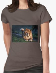Chow-Chow portrait Womens Fitted T-Shirt