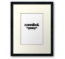 Cannibal Minimalist Framed Print