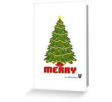 Merry Christmas Tree - V:IPixels Holiday Collection Greeting Card