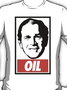 George W. Bush OIL - OBEY Parody T-Shirt