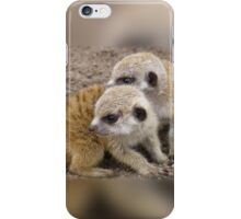 Meercat Twin Babies iPhone Case/Skin