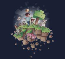 """Falling MineCraft World"" One Piece - Long Sleeve"