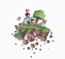 """Falling MineCraft World"" One Piece - Short Sleeve"