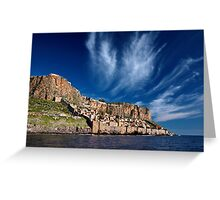The medieval castletown of Monemvasia Greeting Card
