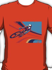 retro track cycling print poster T-Shirt