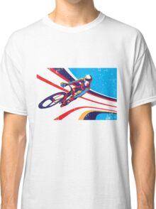 retro track cycling print poster Classic T-Shirt