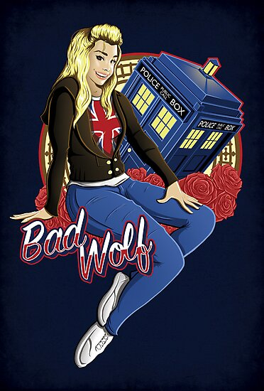 The Bad Wolf - Print by TrulyEpic