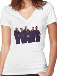 THE SOPRANOS Women's Fitted V-Neck T-Shirt