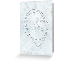 Barack Obama one-line drawing. Greeting Card