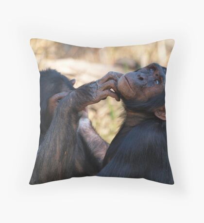 Mary and Bazia Throw Pillow