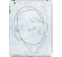 Barack Obama one-line drawing. iPad Case/Skin