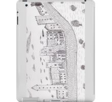 Da Vinci's unpublished sketch about his ideal town iPad Case/Skin