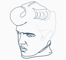 Elvis Presley one-line drawing Kids Clothes