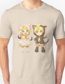 Cute Kagamine Rin and Len Neko Chibi T-Shirt