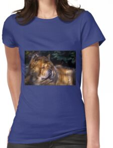 Chow portrait Womens Fitted T-Shirt