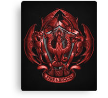 Fire and Blood - Print Canvas Print