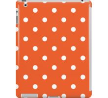Polka Dots Orange White iPad Case/Skin