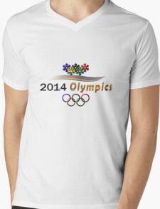 Sochi Olympic t-shirt logo Mens V-Neck T-Shirt