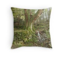 Waterfall Tree Throw Pillow