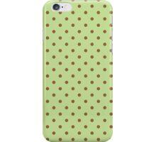 Polka Dots Background Green Brown  iPhone Case/Skin