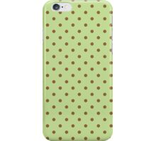 Polka Dots Background Green Brown  iPhone Case/Skin