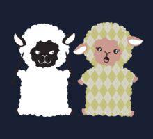 good bad argyle sheep knitting needles Kids Tee