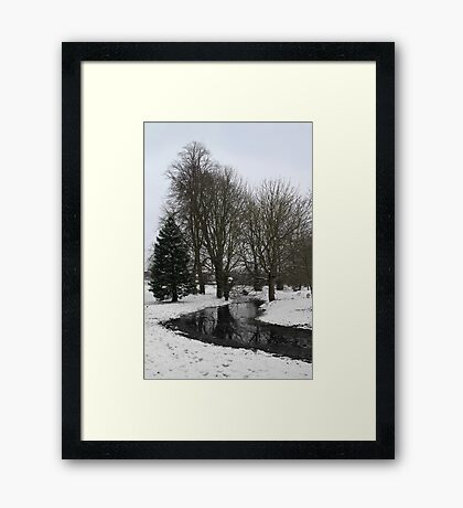 Trees in snow - Goldwell Park, Newbury Framed Print