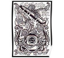 Submarine - Greyscale Poster