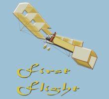 14-bis (Quatorze-bis) Pioneer Canard Biplane T-shirt by Dennis Melling