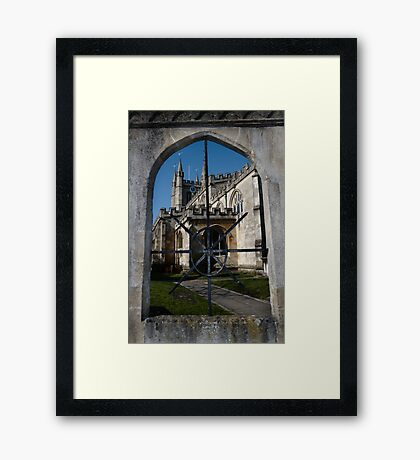 St Nick's Through The Window Framed Print